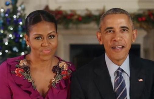 奥巴马总统夫妇的最后一次圣诞致辞 祝大家圣诞快乐