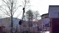 俄男子被棕熊逼上树_邻居只顾拍视频见死不救