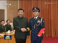 中央军委晋升上将军衔仪式在京举行 习近平颁发命令状并向晋衔的军官表示祝贺