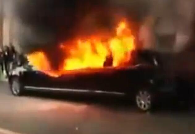 特朗普妻子豪车被焚毁