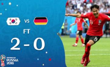 《一本正经世界杯》德国队0:2不敌韩国 卫冕冠军魔咒再次灵验